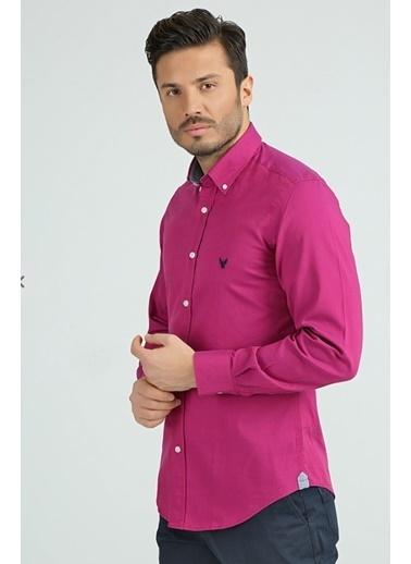 Comienzo Slim Fit Gömlek Fuşya